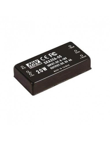Mean Well - 20W Single Output DC - DC...