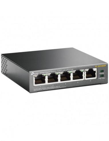TP-Link 5 Port 10/100 Desktop PoE...