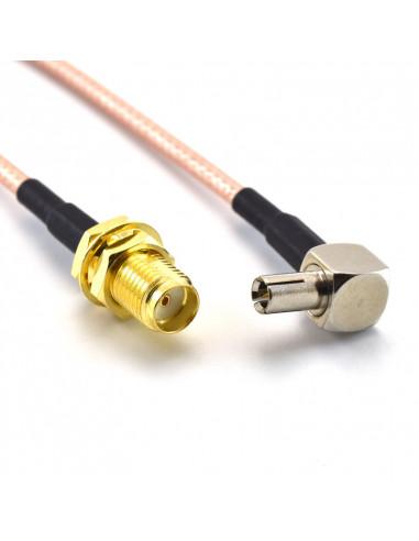 120mm adaptor cable TS9 plug to SMA...