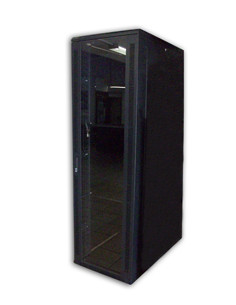 acconet-27u-19-assembled-rack-1000mm-deep-black-clear-glass-door-with-lock-4-220v-fans-2shelve