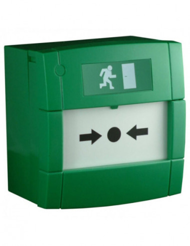 Manual Call Point - Green Resettable